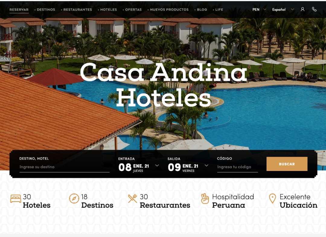 Casa Andina Hoteles Foto para Green Cat Studio Servicio de SEM