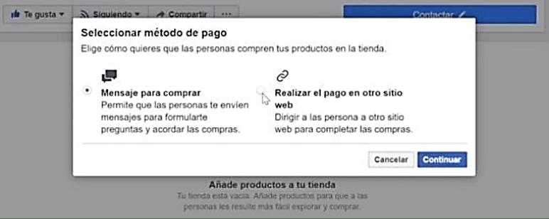 Paso 3 Crear Una Tienda Online en Facebook