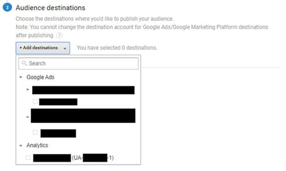 Añadir audiencia a Google Ads