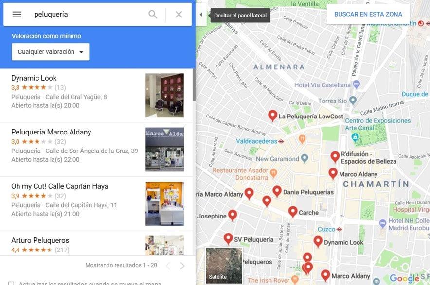 Maps Google My Business Ejemplo