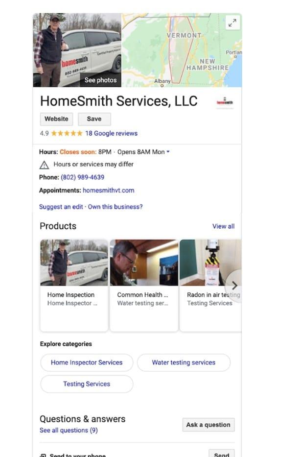 Perfil de Google My Business